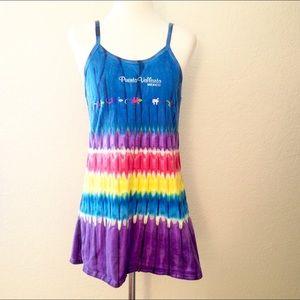 90's Vintage Tie Dye Gecko Dress